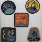 Mercury NASA Space Patches Schirra Grissom Glenn free ship