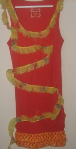 Red & Yellow Laced Tank
