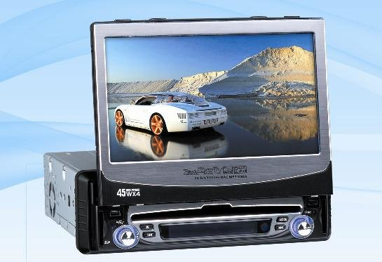 Model 9590 Single DIN In-Dash DVD Player with GPS Navigation