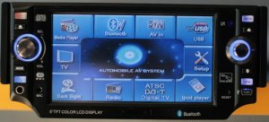 Model 5800 Single DIN In-Dash Touchscreen DVD Player