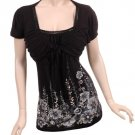 Womens Blouse Top Shirt Plus Size 1x Free Shipping Brand New Black
