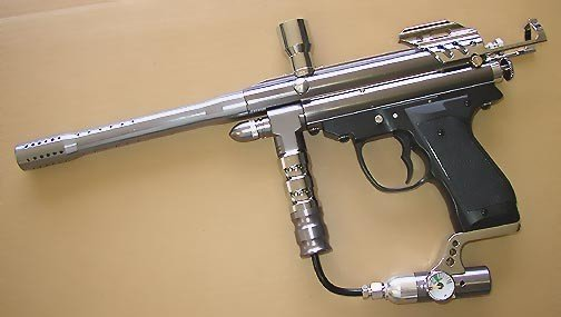 Electronic Paintball Gun with Gauge .68 Caliber