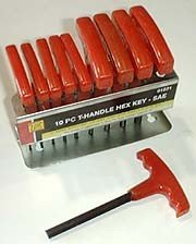 10 Pcs T-Handle Hex Key