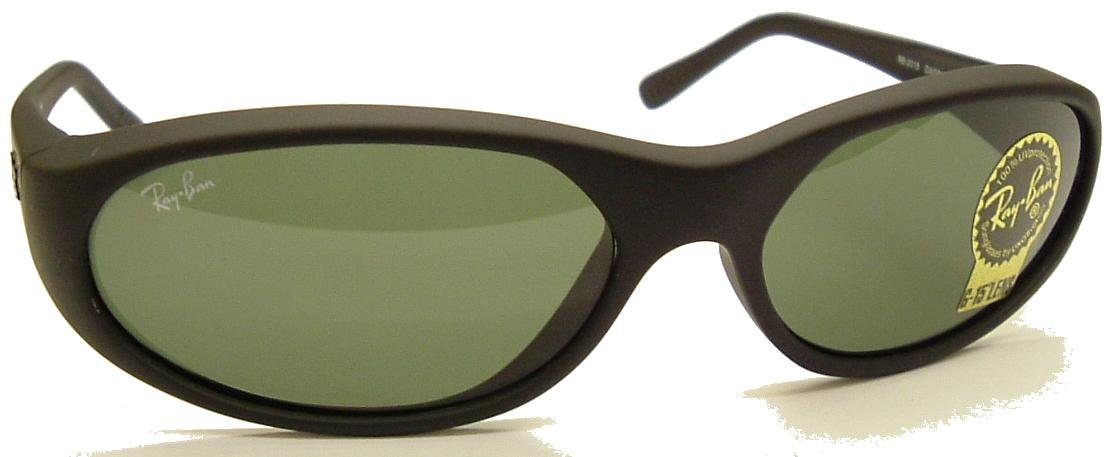 Ray Ban Daddy O Oval Wrap Sunglasses 2015 Black/Ray Ban G15 Safety Toughened GLASS Lens