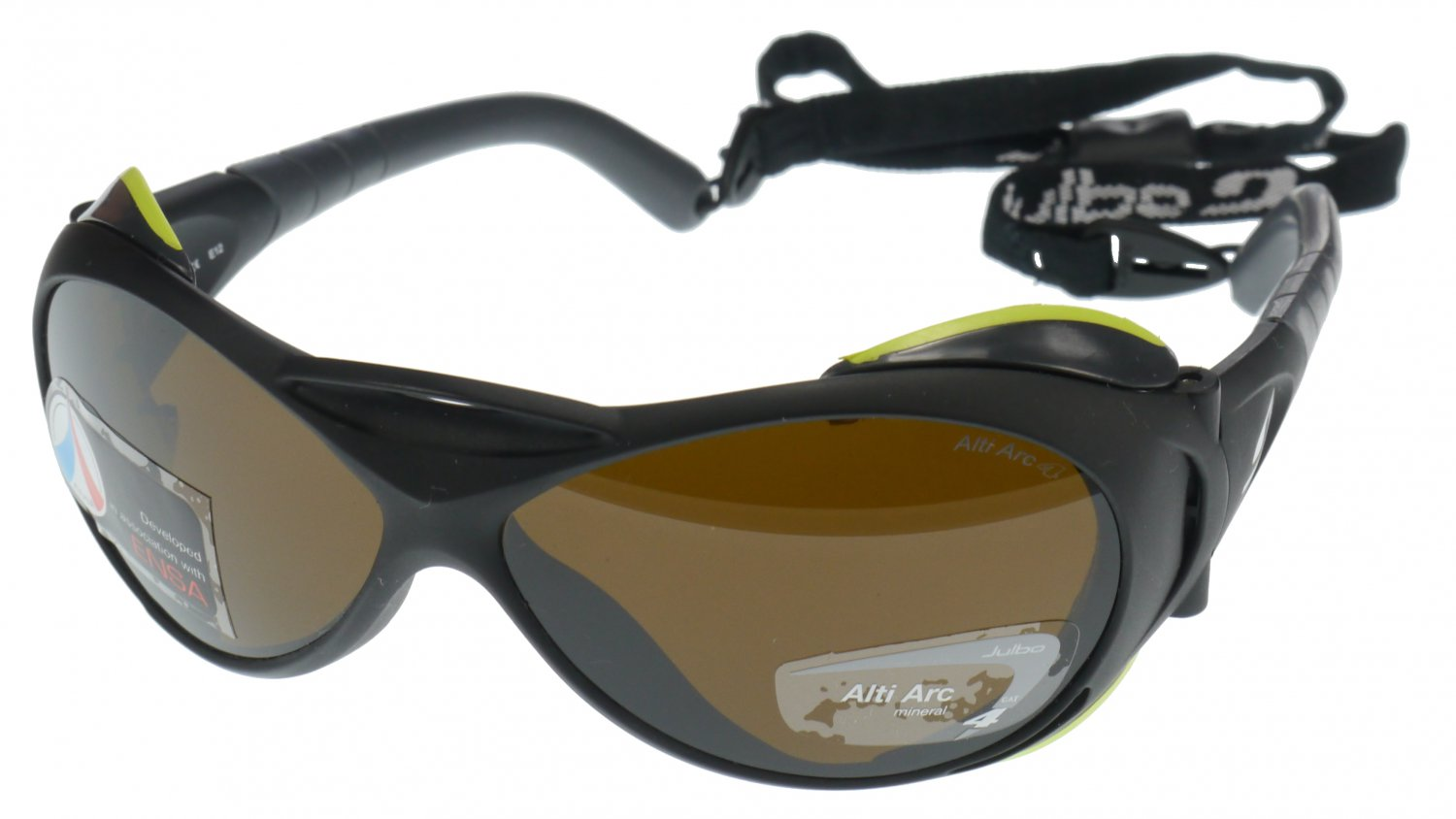 Julbo Explorer Heavy Duty Sunglass, Matt Black, Alti Arc Glass Category 4 Lens (4% LTF) - Medium Fit