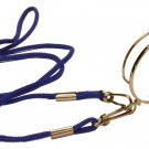 High Quality Monocle, Light Gold Color, Blue Cord (Detachable), Dummy lens
