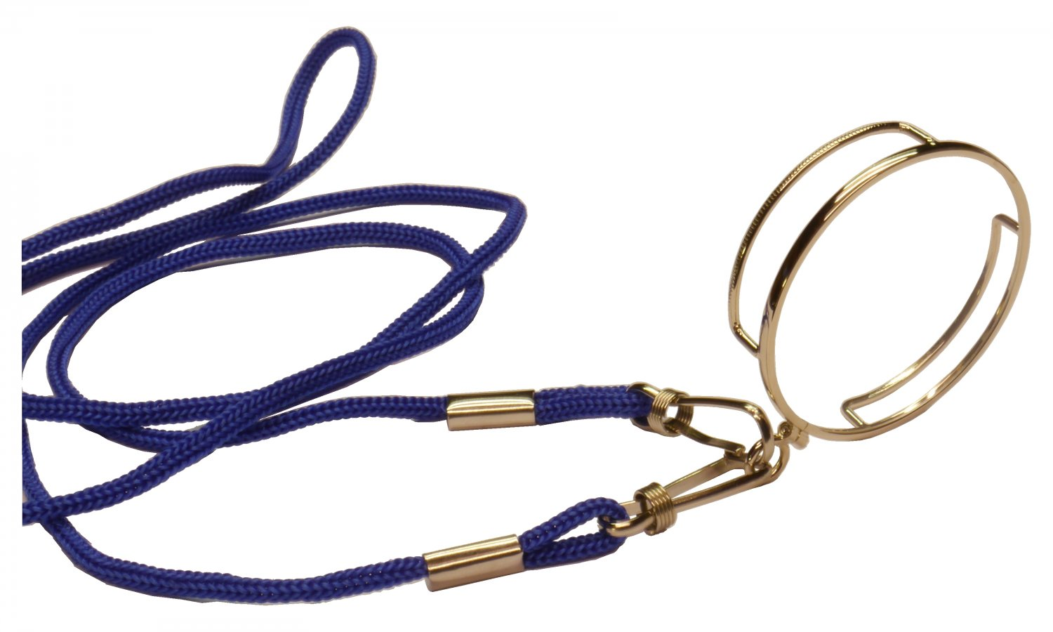 high quality reading monocle light gold color blue cord