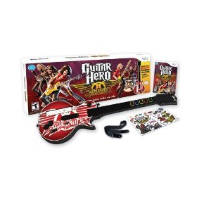 NEW Guitar Hero Aerosmith Bundle - Game + Guitar (Wii)