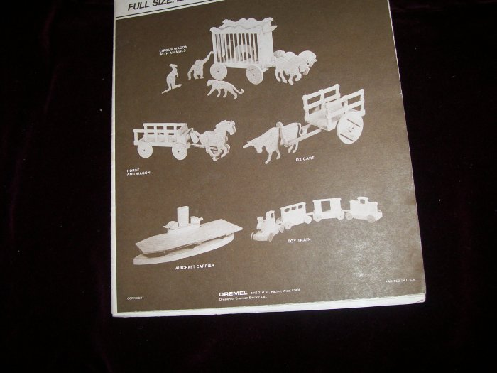 Dremel vintage full size woodworking patterns toys