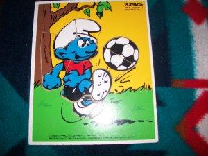 Playskool vintage Smurf wooden puzzle Soccer Star