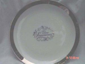 Schumann/Bavaria Silver Anniversary Plate