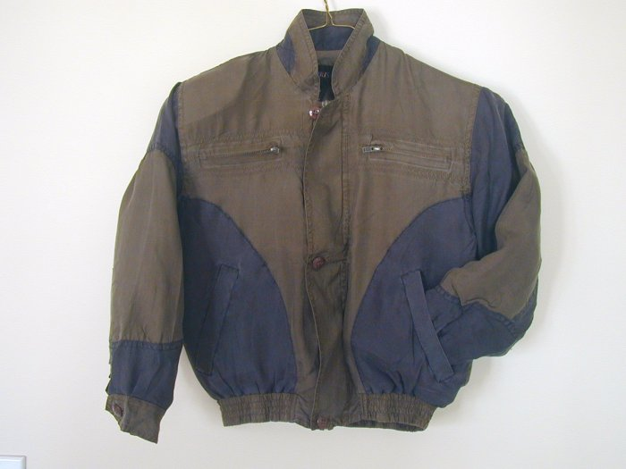 Boy's Olive Silk Jackets (S, Item#505)