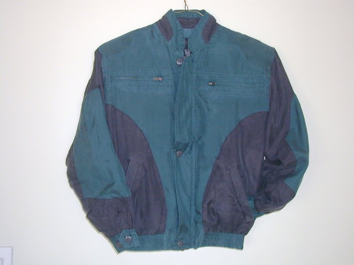 Boy's Teal Silk Jackets (M, Item#504)