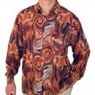 Men's Printed 100% Silk Shirt (Extra Large, Item# 106)