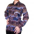 Women's Pattern 100% Silk Blouse (L, Item# 107)