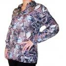 Women's Pattern 100% Silk Blouse (L, Item# 105)