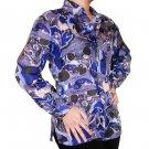 Women's Pattern 100% Silk Blouse (S, Item# 110)