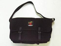 Canvas Messenger Bag 3601U - Medium Black