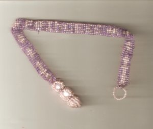 Princess choker pink and purple