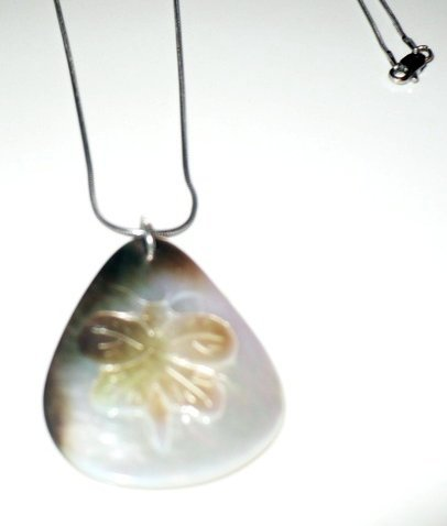 mother of pearl butterfly necklace.