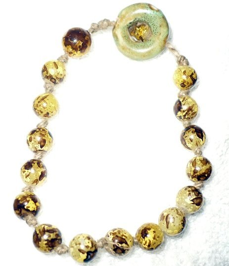 yellow and brown stone bracelet