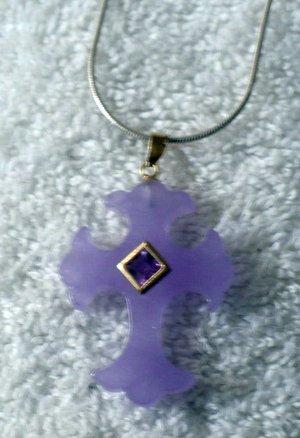 purple cross pendant