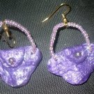 purple purse earrings