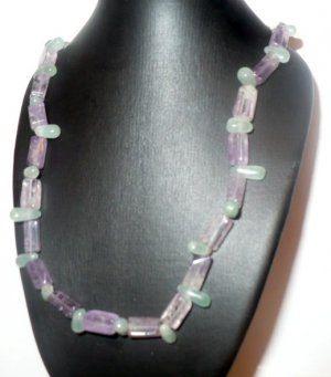 jade and amethyst necklace