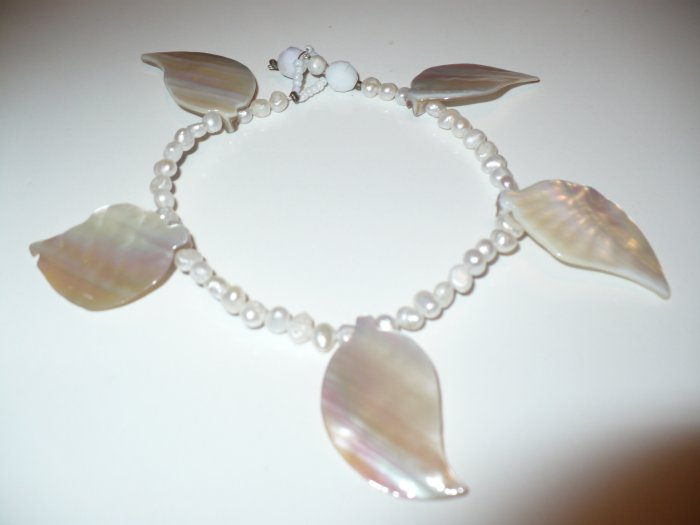 pearl and shell anklet