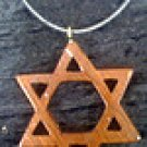 Star of David wooden necklace