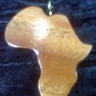 wooden African shaped necklace