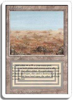 MTG Revised Scrubland