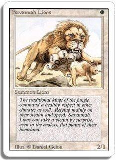 MTG Revised Savannah Lions