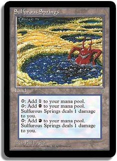 MTG Ice Age Sulfurous Springs