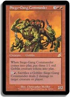 MTG Scourge Siege Gang Commander FOIL