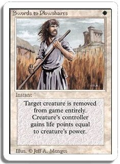 MTG Revised Swords to Plowshares
