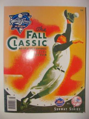 2000 World Series Program