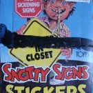 Snotty Signs Stickers Box