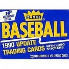 1990 Fleer Update Baseball Complete Set
