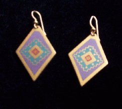 "Laurel Burch ""Miwok"" Pierced Earrings"