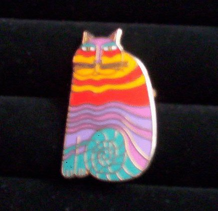 Rainbow Cats Brooch