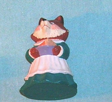 1991 Hallmark Merry Miniature Fox with Pie