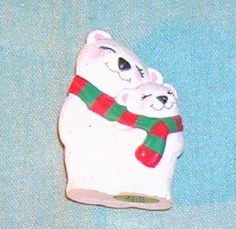 1994 Hallmark Merry Miniature Polar Bear Pair