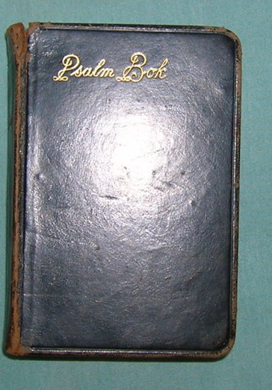 Antique 1884 Swedish Language Holy Book Psalm Bok