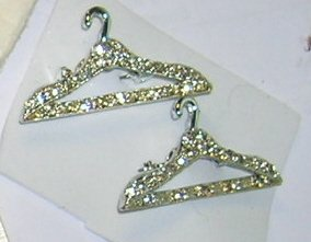 Clear Rhinestone Scatter Pins Set of 2 Hangers