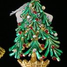 MYLU Christmas Tree Rhinestone  Brooch / Pin