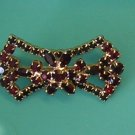 Vintage Red Rhinestone Bowtie Brooch / Pin
