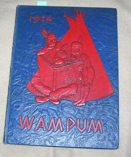 Vintage Wampum Binghamton North High School Yearbook 1954