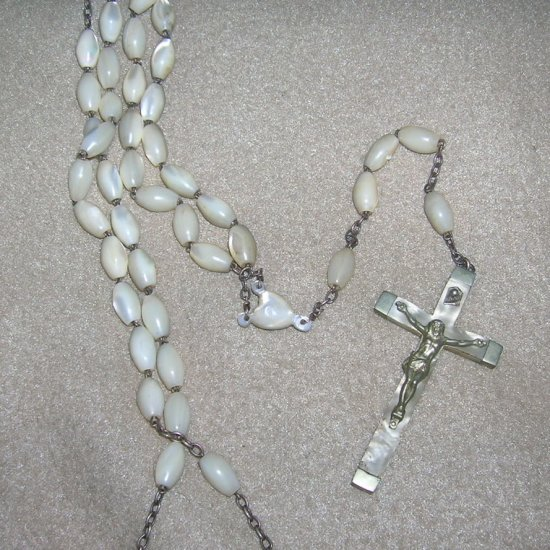 Vintage Large Mother of Pearl Rosary