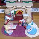 1993 Bearingers Set of 5 Hallmark Ornaments